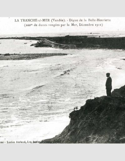 Lagune de la Belle Henriette, entre les Prises et la ferme de la Marie Louise, 1911. La lagune est alors strictement marine.